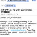 the genesis contest