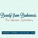 beauty from brokenness: the glorious dichotomy