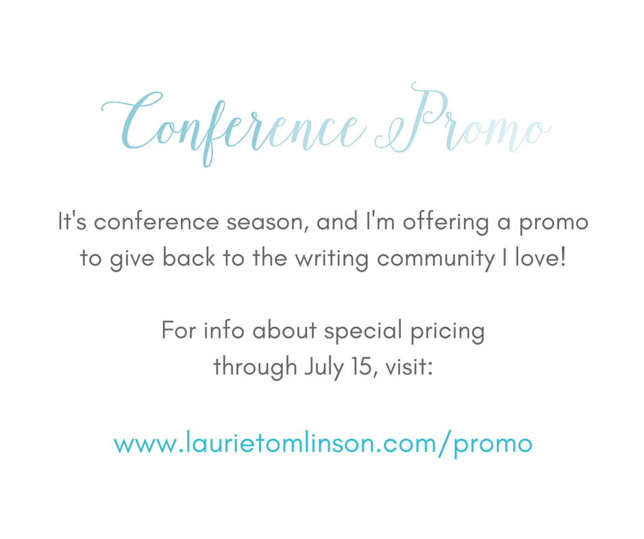 For those getting ready for the 2016 ACFW Conference in August, I'm offering a promo to give back to the writing community I love!
