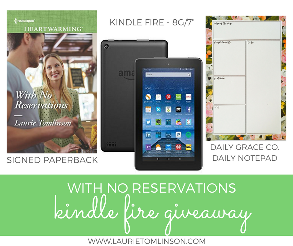 With No Reservations Kindle Fire Giveaway