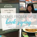 scenes from a first book signing